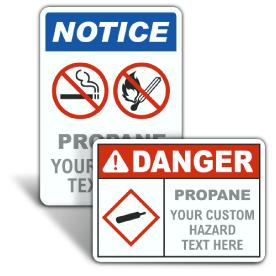 Custom Propane ANSI & OSHA Signs