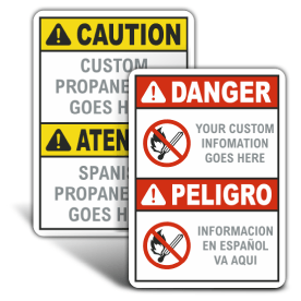 Custom Propane Bilingual ANSI & OSHA Headers