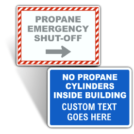 Custom Propane Background and Border Signs