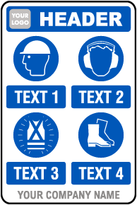 PPE Sign — 4 Images