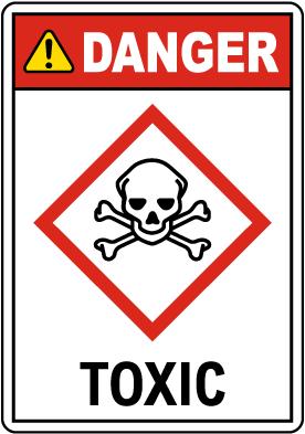 Danger Toxic GHS Sign