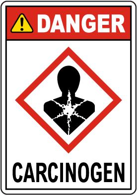 Danger Carcinogen GHS Sign