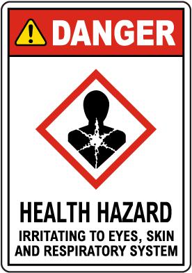 Danger Health Hazard GHS Sign