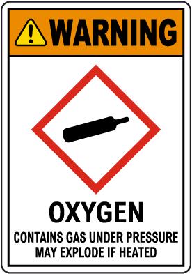 Warning Oxygen GHS Sign