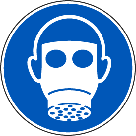 Wear Respiratory Protection Label