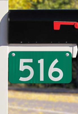 Green Horizontal 911 Address Sign