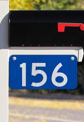 Blue Horizontal 911 Address Sign