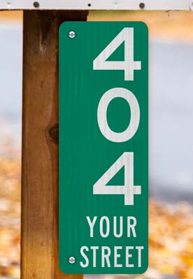 Green Vertical 911 Address Sign with Street Name