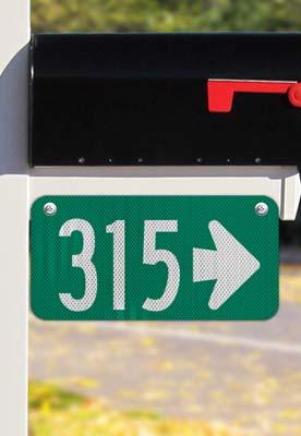 Green Horizontal 911 Address Sign with Arrow