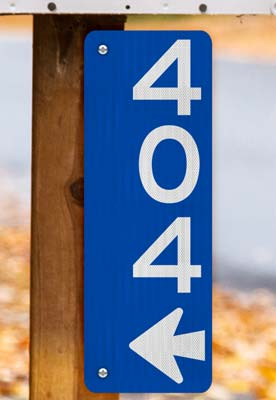 Blue Vertical 911 Address Sign with Arrow