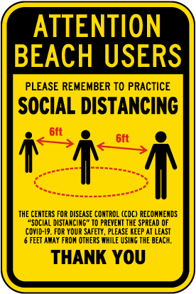 Attention Beach Users Sign
