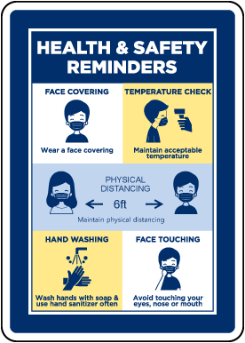 Health And Safety Reminders Banner