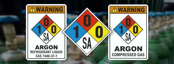 NFPA 704 Argon Signs