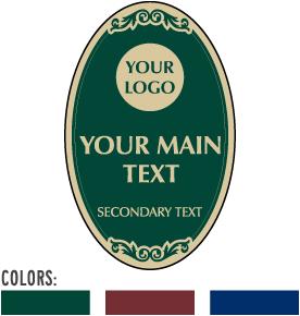 Custom Decorative Signs (Oval)
