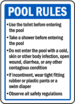 Arizona Pool Rules Sign