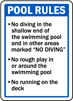 Iowa Pool Rules Sign