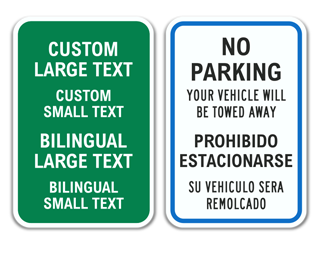 Custom Bilingual Reserved Parking Sign