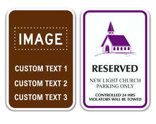 Custom Reserved Parking Sign with Image
