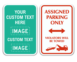 Custom Parking Sign with Image and Text