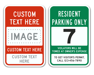 Reserved Space Custom Parking Sign