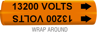 13200 Volts Wrap-Around Marker