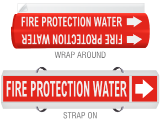 High Temp. Fire Protection Water Pipe Marker