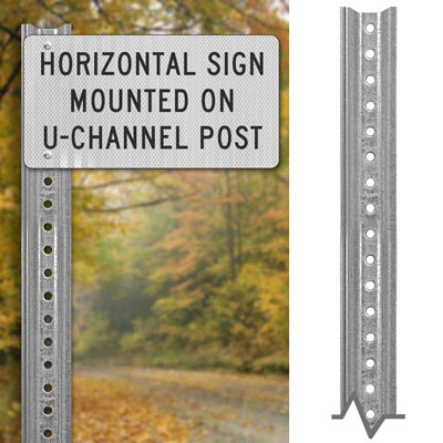 Lightweight  Galvanized Sign Post – Direct Sign Mounting