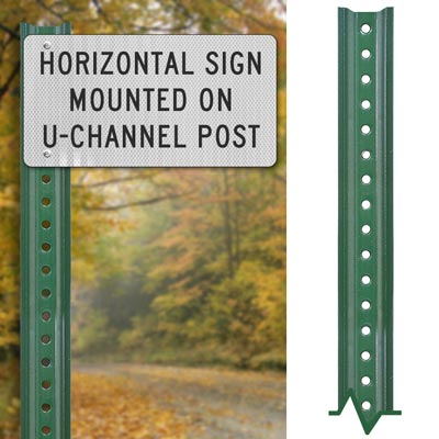 Lightweight Green Sign Post – Direct Sign Mounting