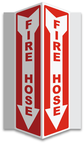 Fire Hose 3-Way Sign