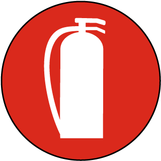 Fire Extinguisher Symbol Floor Sign