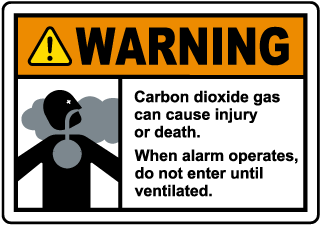 Warning Carbon Dioxide Gas Do Not Enter Sign