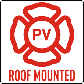 PV - Roof Mounted Solar Panel Sign