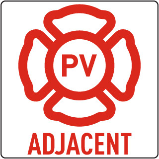 PV - Adjacent Solar Panel Sign