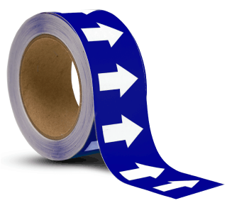 Blue / White Arrow Banding Tape
