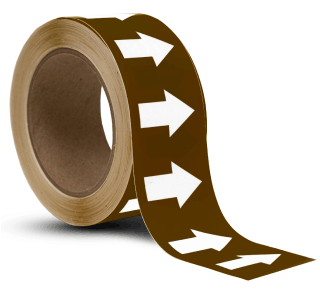 Brown / White Arrow Banding Tape
