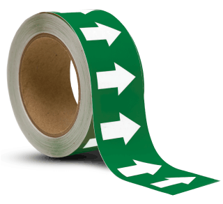 Green / White Arrow Banding Tape