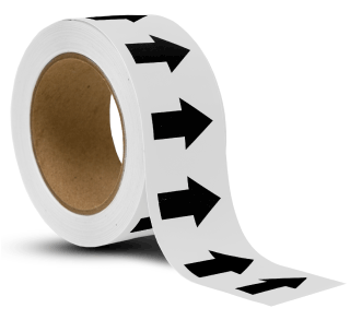 White / Black Arrow Banding Tape