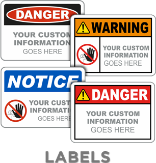 ANSI Z535 and OSHA Custom Safety Labels