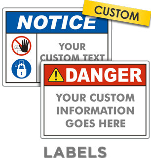 Custom ANSI Z535 Safety Label