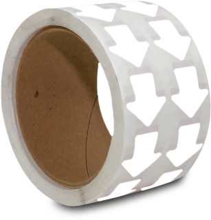 White Arrow Floor Marking Tape