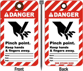 Danger Pinch Point Keep Away Tag