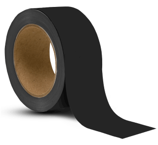 Black Vinyl Floor Marking Tape