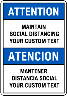 Custom Bilingual Attention Sign