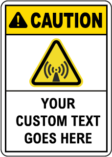 Custom Caution Safety Sign