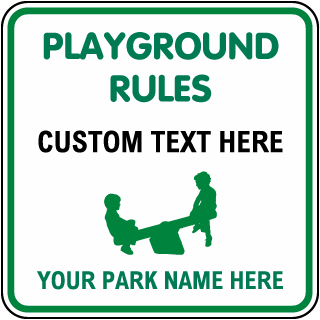 Custom Playground Sign