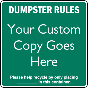 Custom Square Recycling Sign