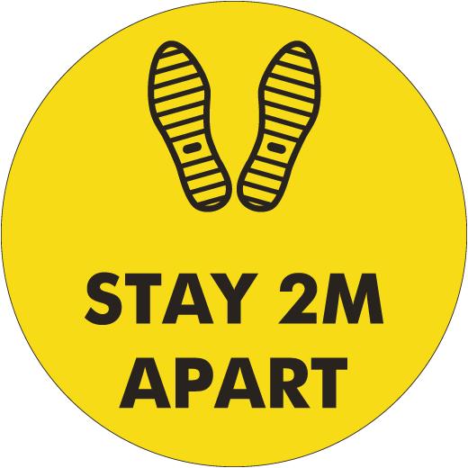 Custom Stay 2M Apart Sign