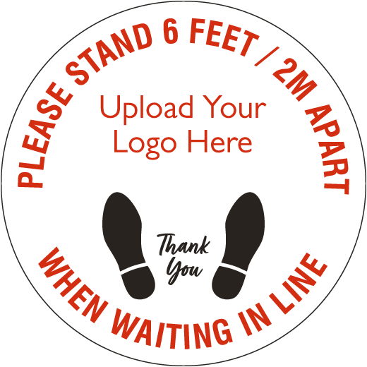 Custom Please Stand 6 Feet Apart When Waiting In Line Sign