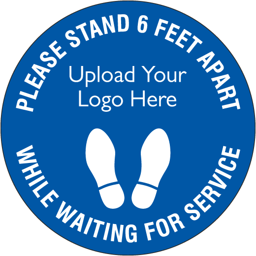 Custom Please Stand 6 Feet Apart Sign