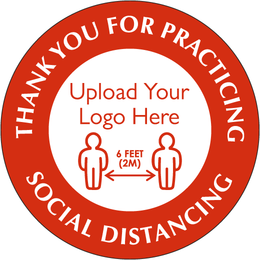 Custom Thank You For Practicing Social Distancing Sign